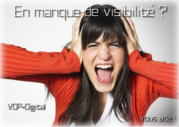 Des problèmes de visibilité sur Internet ?