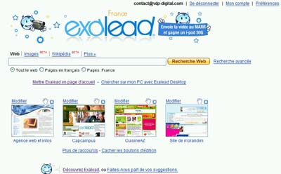 Interface Exalead